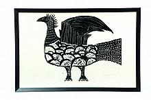 STYLIZED ROOSTER (AMERICAN SCHOOL, MID-LATE 20TH CENTURY).