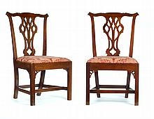 SET OF SIX CHIPPENDALE-STYLE CHAIRS.