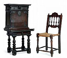 THREE PIECES OF RENAISSANCE REVIVAL FURNITURE.