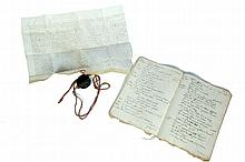 TWO MANUSCRIPT ITEMS.