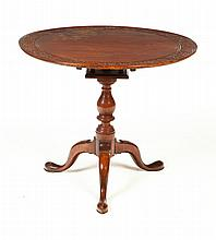 QUEEN ANNE TILT-TOP TEA TABLE.