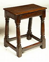 JACOBEAN JOINT STOOL.