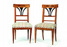 PAIR OF BIEDERMEIER CHAIRS.
