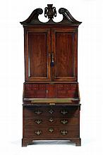 GEORGE III DESK-AND-BOOKCASE.