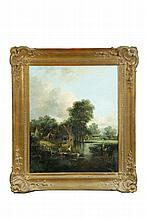 LANDSCAPE WITH RIVER (CONTINENTAL SCHOOL, 19TH CENTURY).