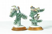 PAIR OF ROYAL WORCESTER DOROTHY DOUGHTY BIRDS.