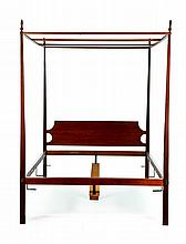 HEPPLEWHITE-STYLE PENCIL POST BED BY ELDRED WHEELER.