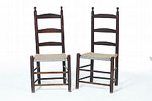 PAIR OF SIDE CHAIRS.
