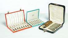 THREE BOXED SETS OF FLATWARE.