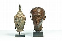 TWO BRONZE BUSTS.