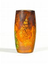 DAUM NANCY ART GLASS VASE.