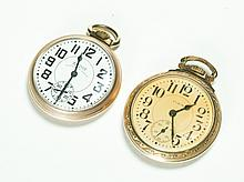 TWO TWENTY-THREE JEWEL OPEN FACE POCKETWATCHES.