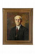 FRAMED PORTRAIT BY JOSEPH B KAHILL (MAINE, 1882-1957).