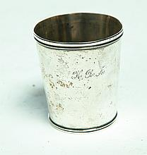 COIN SILVER JULEP CUP.