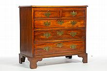 CHIPPENDALE CHEST OF DRAWERS.