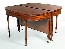 PAIR OF SHERATON BANQUET TABLES.