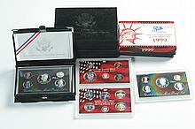 EIGHT SILVER PROOF SETS.