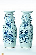 PAIR OF CHINESE PORCELAIN VASES.