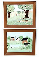 TWO LANDSCAPES BY HAROLD EVERETTE BAYER (TOLEDO, OHIO, 1900-1996).