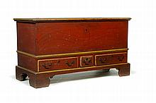 COUNTRY CHIPPENDALE BLANKET CHEST.