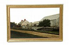 PORTRAIT OF A FARM BY E. KNOX (AMERICAN, LATE 19TH CENTURY).