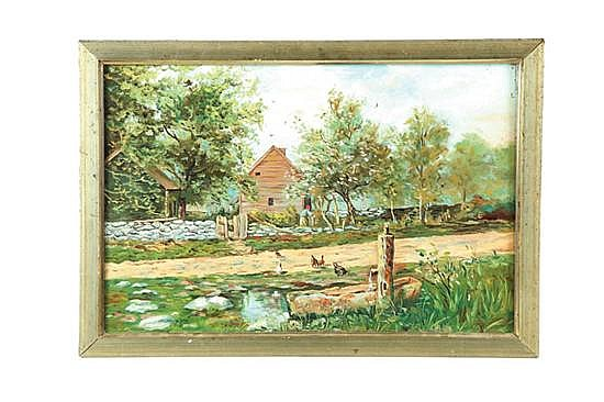 LANDSCAPE OF A COTTAGE (AMERICAN SCHOOL, LATE 19TH- EARLY 20TH CENTURY)