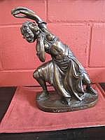 A bronze sculpture after Leopold Bernstamm