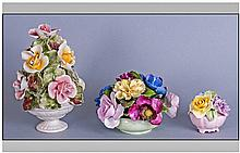 Small Collection Of China Posy Ornaments including