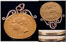 George IV 22ct Gold Two Pound/Double Sovereign