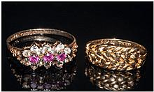 Two 9ct Gold Ladies Dress Rings, Both Fully