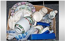 Box Of Miscellaneous Ceramics comprising