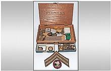 Assorted Collectables including medals, badges,