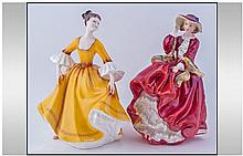 Royal Doulton Figures, 2 in total, 1. 'Top O' The