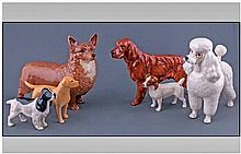 Beswick Dog Figures, 6 In Total. Comprises Poodle,