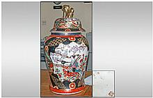 Large Oriental Jar and Cover with Dog of Foo
