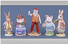Five Royal Albert Beatrix Potter Figures