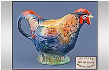 Rooster Pottery Teapot, stamped to base 'Made in