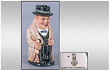 Royal Doulton Small Toby Jug 'Winston Churchill'