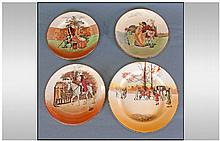 Royal Doulton Series Ware Plates, three 'Sir Roger