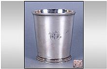 George III Silver Tumbler Of Plain Form, with
