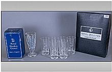 Collection Of Royal Doulton Crystal Including a
