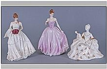 Three Figurines, 1. Coalport 'Rose Ball'