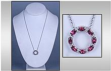 Rhodolite Garnet and Diamond 'Circle of Life'
