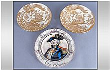 Three Cabinet Plates comprising of a Pair of Royal