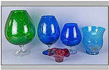 Collection of Art Pottery Studio Glass (5) pieces