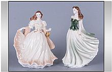 Two Royal Worcester Figurines Comprising 1.