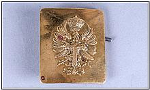 A Late 19th Century Prussian Brass Belt Buckle.