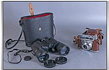 Pathescope Binoculars, coated lenses 10 x 50,