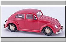 Dux Vintage Clockwork Wind Up Volkswagen Beetle In