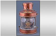 Masthead Copper Ships Lantern. 10 inches in